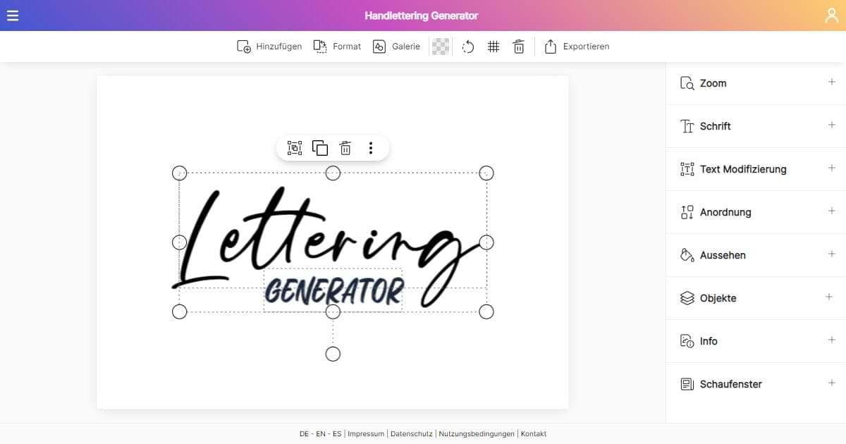 Dein Handlettering Generator Vorlagen Gestalten Und Ausdrucken