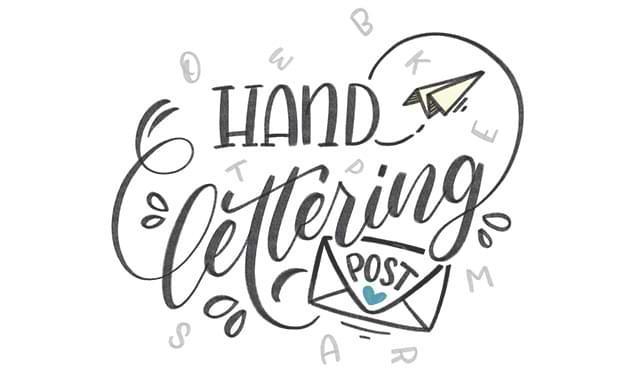 Handlettering Post
