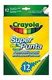 Crayola 03.7509DM - 12 Supertips Filzstifte einfach...