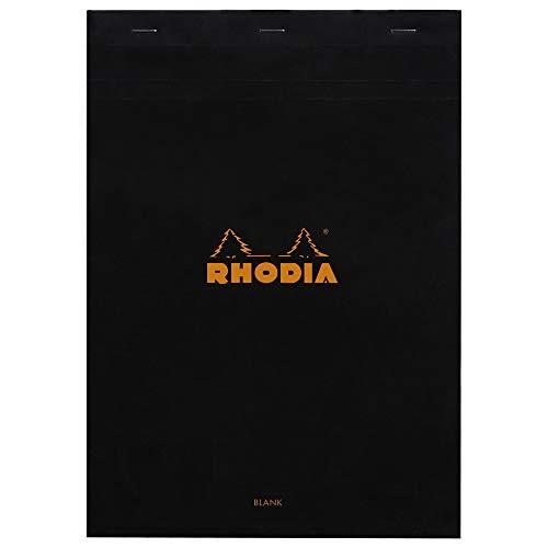Rhodia 180009C Notizblock (geheftet, mikroperforiert, blanko, DIN A4, 80 g, 21 x...