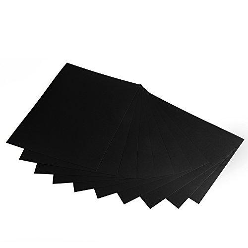 Fotokarton, Bastelkarton schwarz, 50 Blatt, DIN A4, hochwertige Qualität, 300...