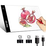GLIME LED Licht Pad A4 Light Pad LED Leuchtplatte Leuchttisch LED Zeichnung Pad...
