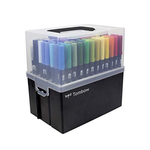 Tombow ABT-108C ABT Dual Brush Pen Stiftebox mit 107 Farben + Blender Pen,...
