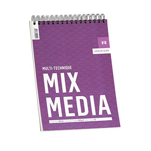 Römerturm Mix-Media-Block, DIN A4, 300 g/m², weiß, leicht rau,...