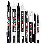 POSCA Stifteset, schwarz und weiß, dünne bis mitteldicke Spitze, 8 Stifte...