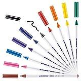 edding 4600 Textil-Stift - 10er Set - Standard Farben - Rundspitze 1 mm - Zum...