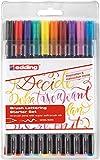 edding 1340 Brush Pen - Fasermaler mit variabler Pinselspitze , 10er Set ,...