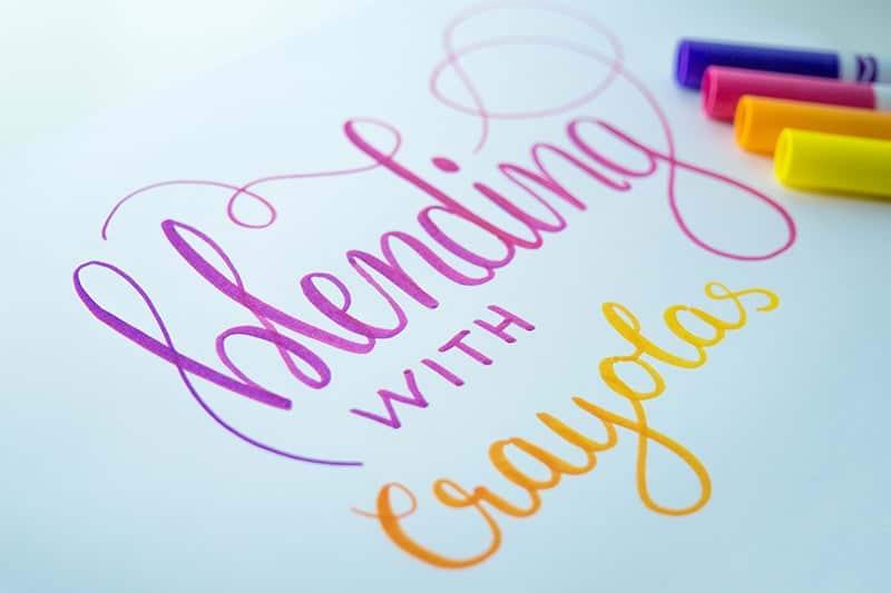 Blending mit Crayola Markern