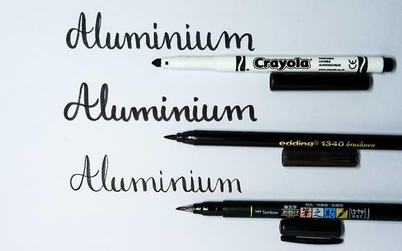 Crayola, Edding und Tombow