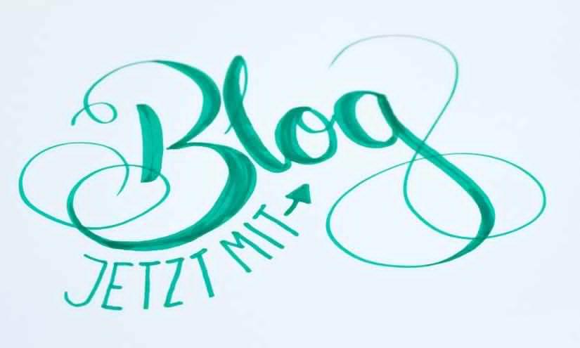 Jetzt mit Blog Lettering