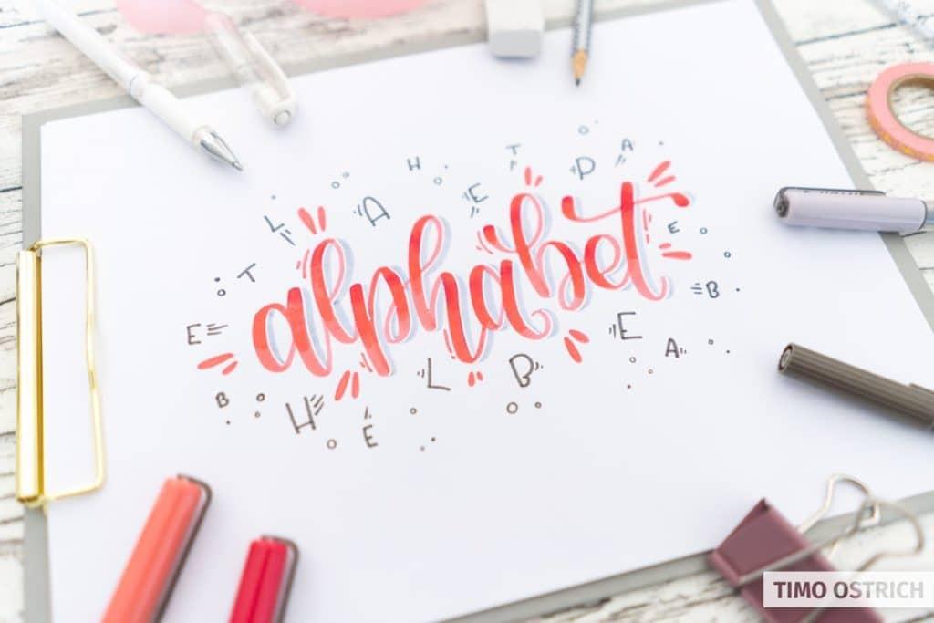 Bounce Lettering - So kreierst du aufregende Handletterings