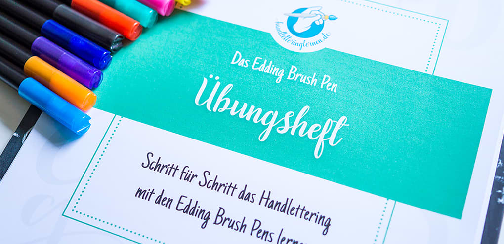 Edding Brush Pen Übungsheft