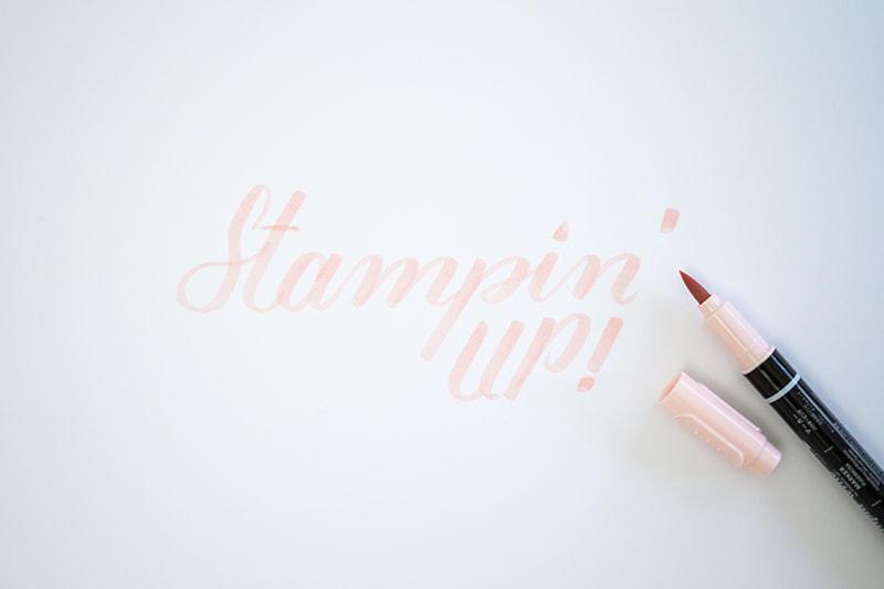 Stampin Schriftzug