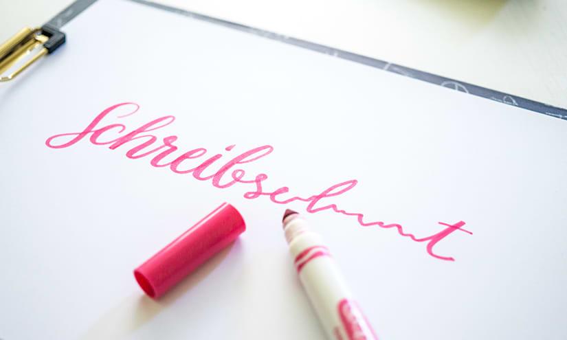 Handschrift verlernt