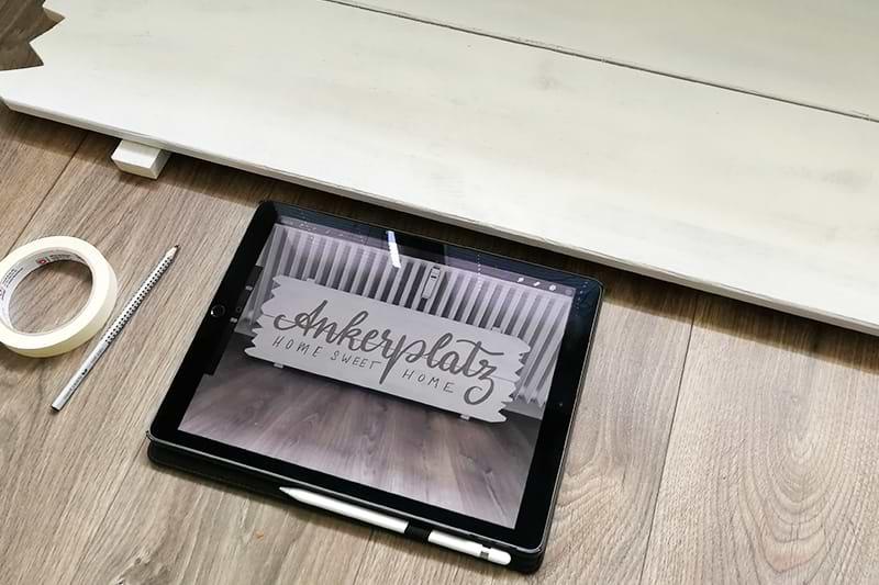 Lettering auf iPad testen