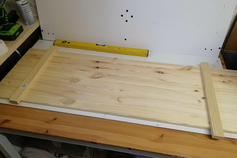 Holzschild Planung