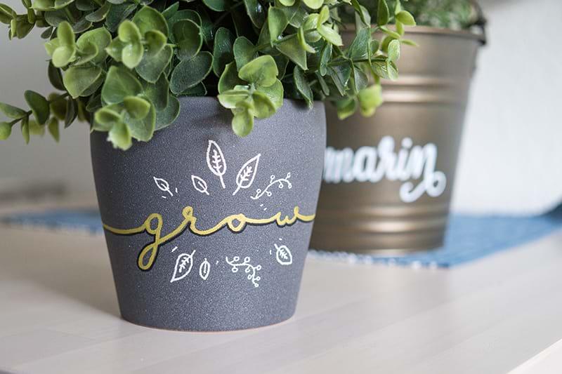 Einen Blumentopf Beschriften Tolle Deko Und Geschenkidee