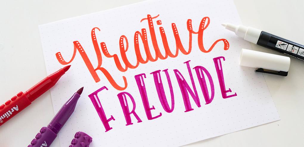 Kreative Freunde Brushlettering