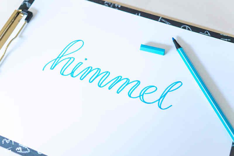 Faux Calligraphy Schritt 2 - Abstriche verbreitern