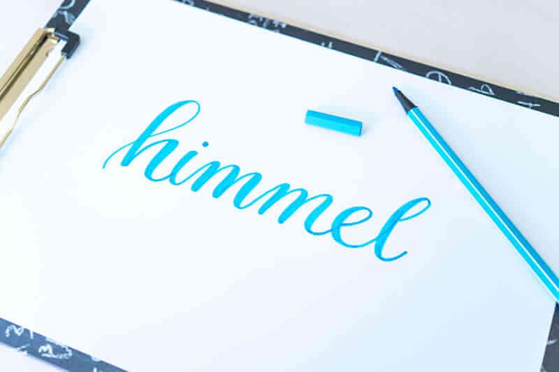 Faux Calligraphy Schritt 3 - Leerräume ausmalen