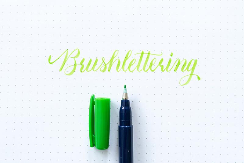 Tombow Fudenosuke Brushlettering