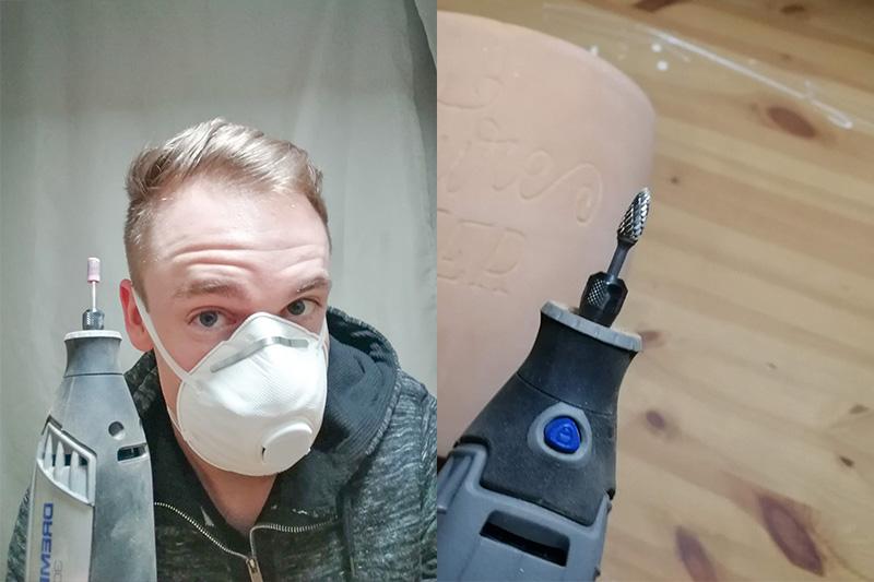 Gravieren mit Maske