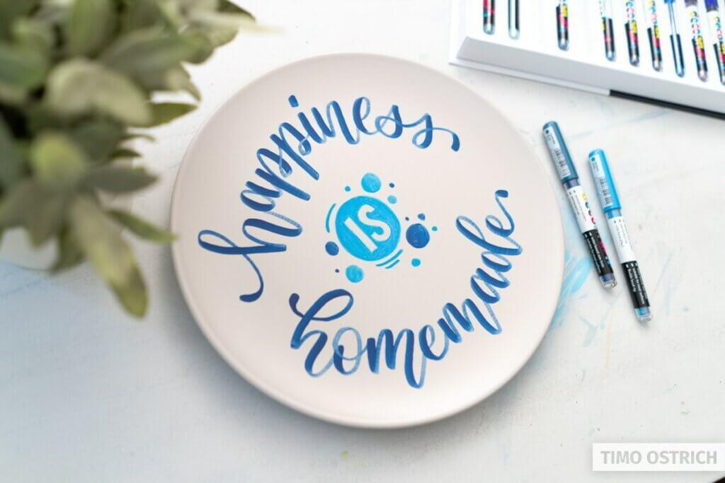 Porzellan bemalen & beschriften für individuelles Geschirr