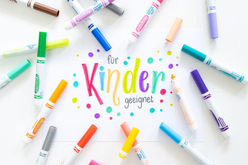 Für Kinder geeignet Schriftzug