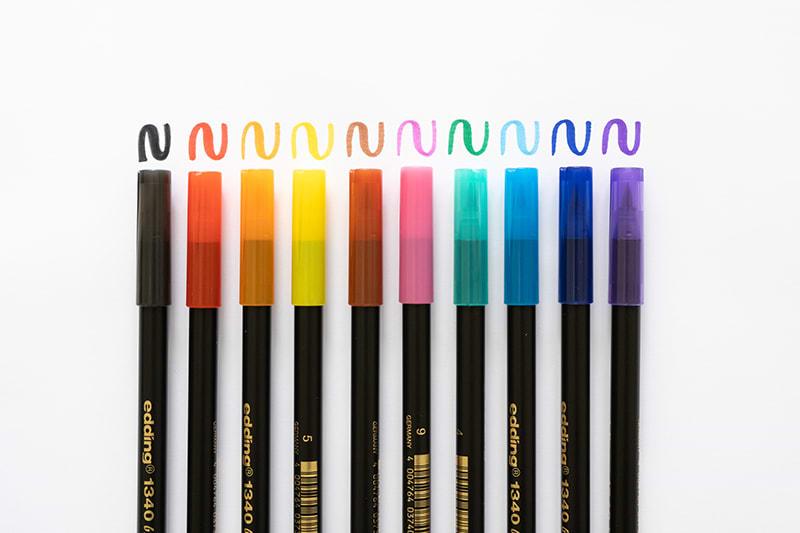 Edding Brush Pen Farben Übersicht