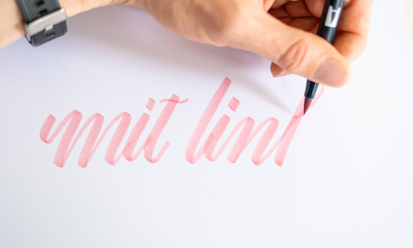 Handlettering mit links
