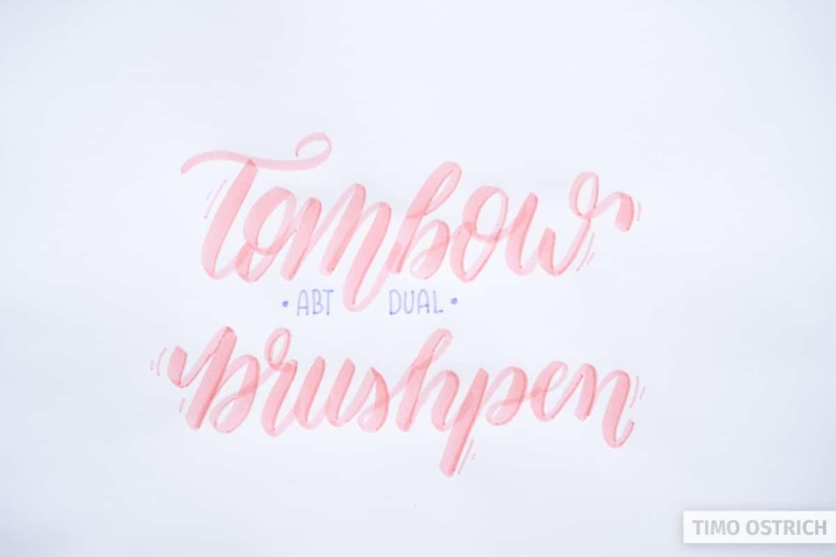 Brushlettering mit Tombow ABT Dual Brush Pen