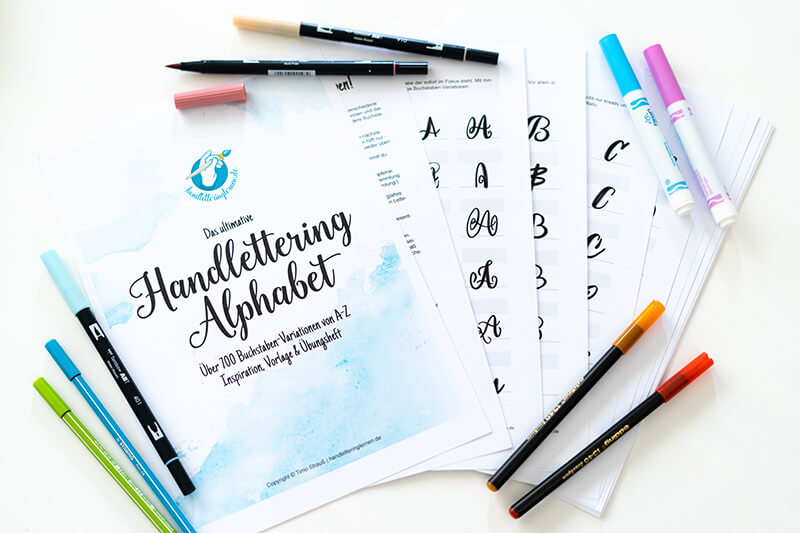 Einblick in das ultimative Handlettering Alphabet