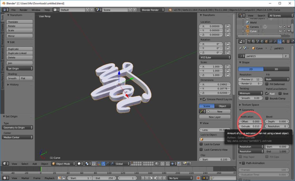 Aus 2D wird 3D per Extrude