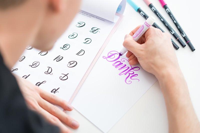 Alphabet beim Lettering