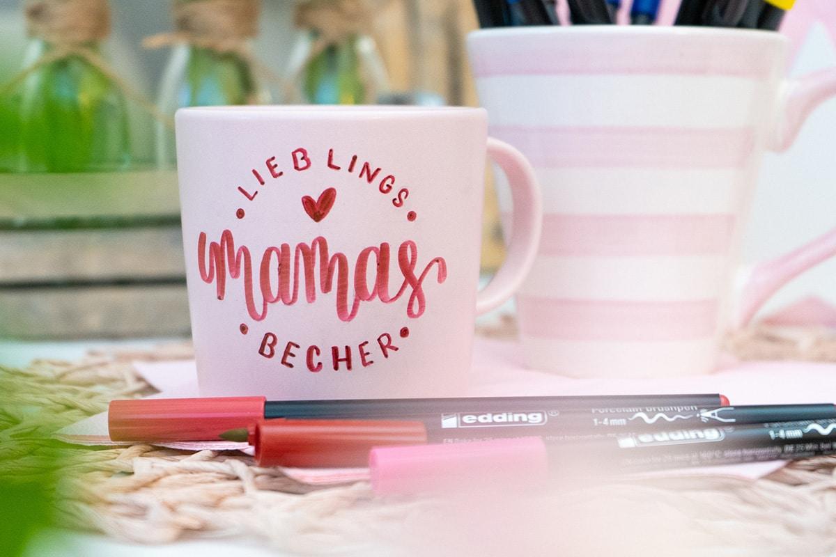Handlettering Tasse zum Muttertag