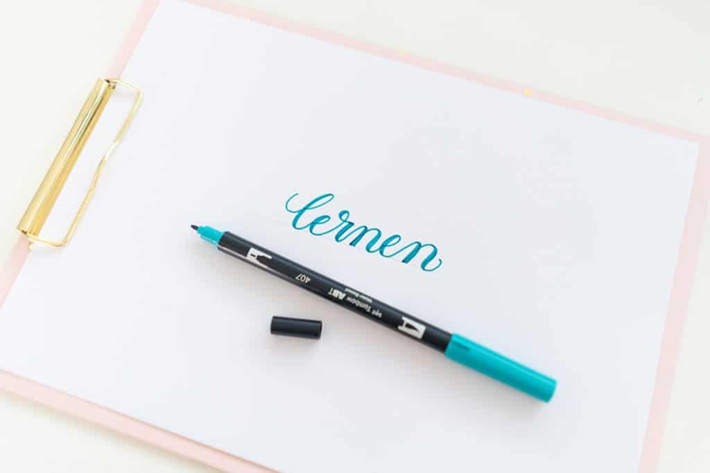 Faux Calligraphy Schritt 3