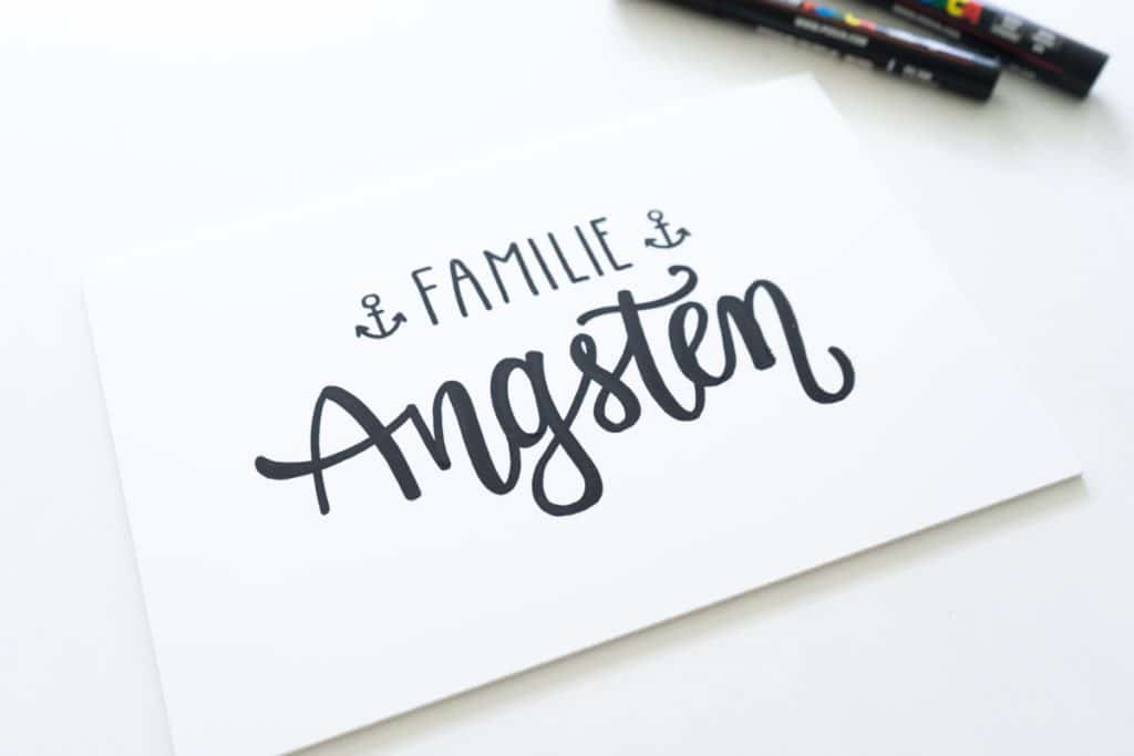 Fertiges Lettering