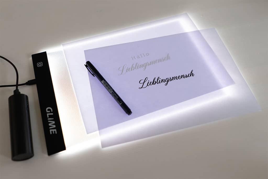 Gekauftes Lightpad