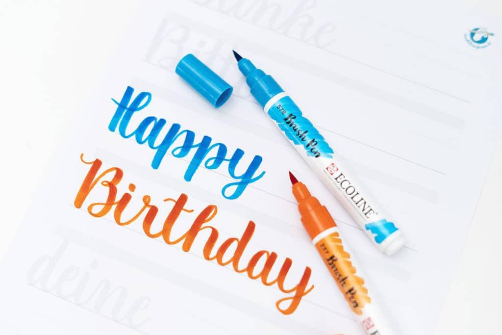 Happy Birthday Schriftzug