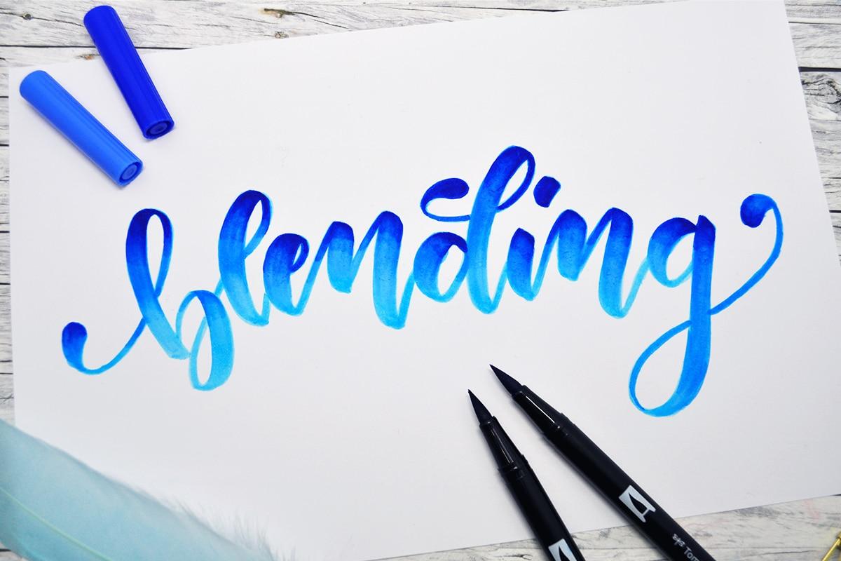Handlettering Blending