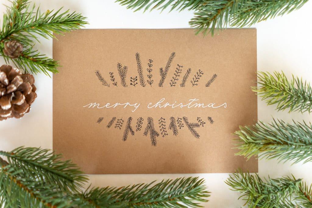 Merry Christmas schlicht
