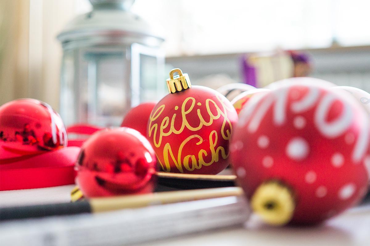 Weihnachtskugel - Heilige Nacht
