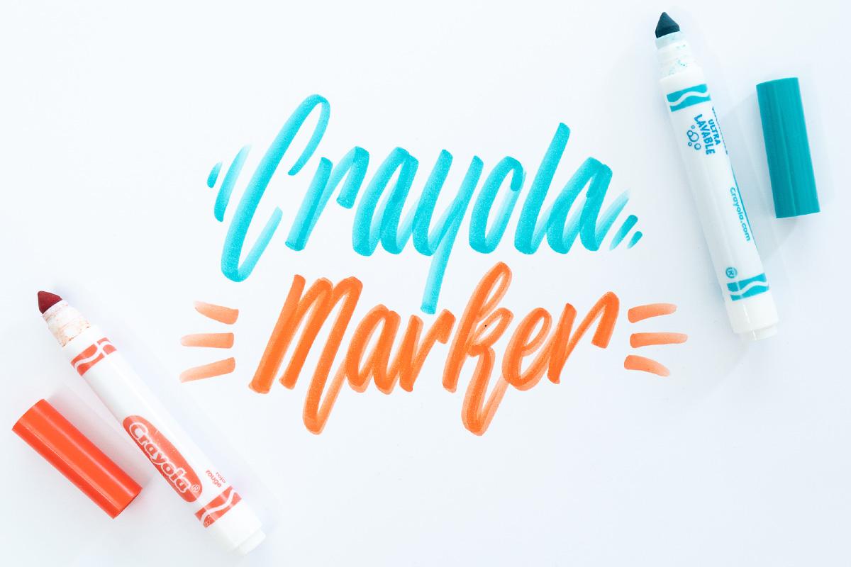 Crayola Marker Handlettering