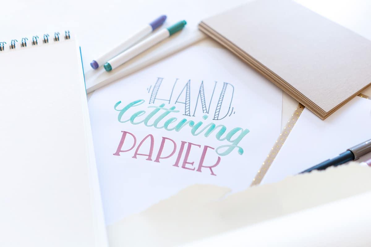 Handlettering Papier