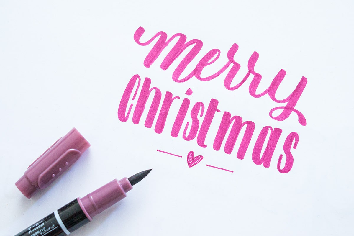Merry Christmas in pink
