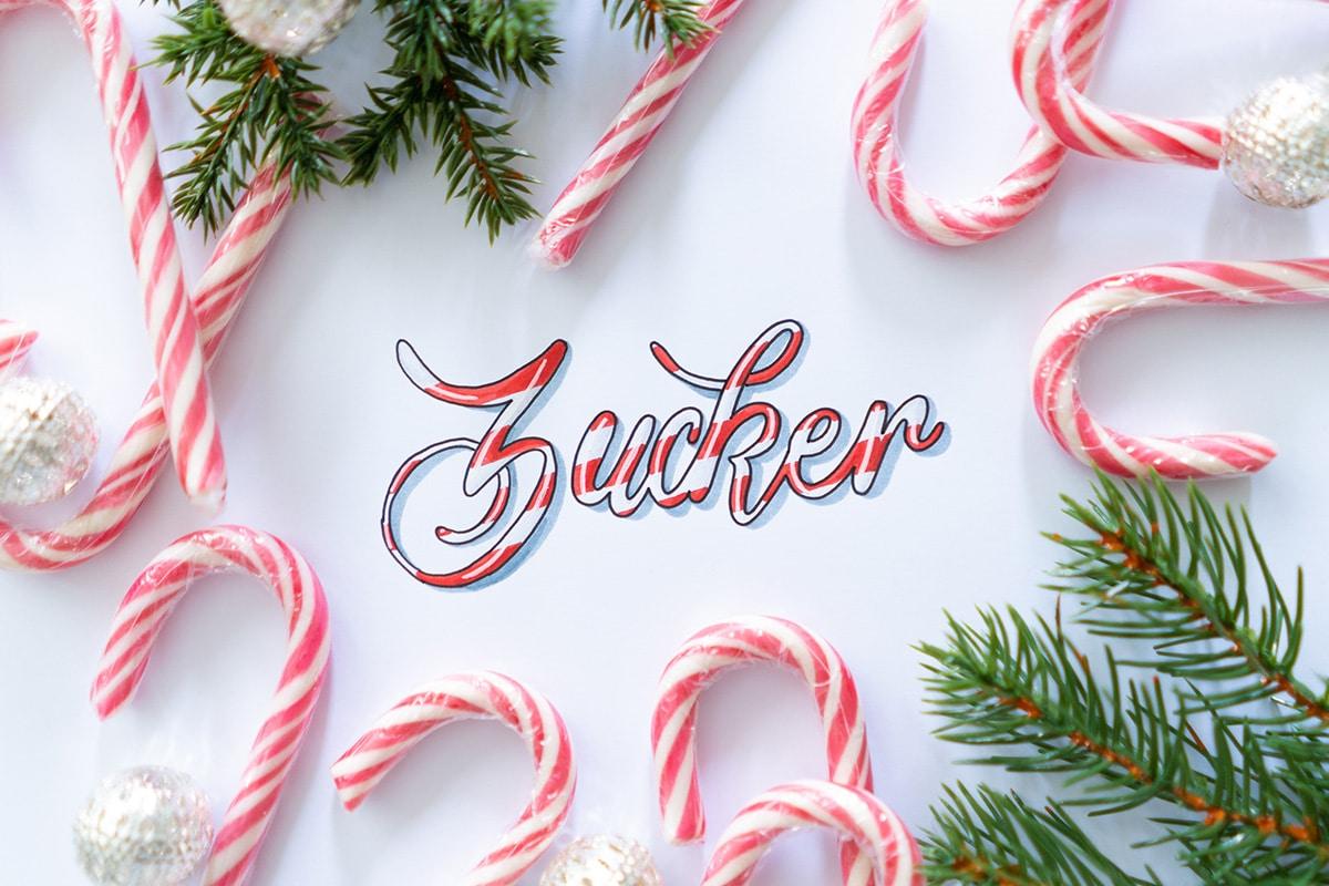 Weihnachtszeit ist Zuckerzeit