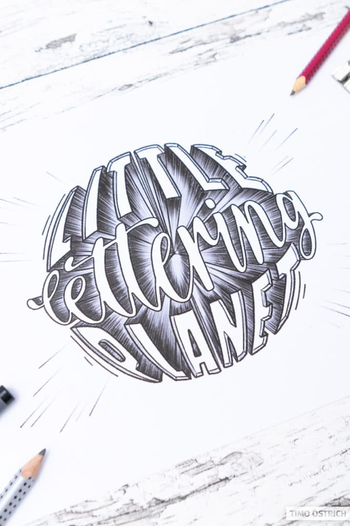 Little lettering planet