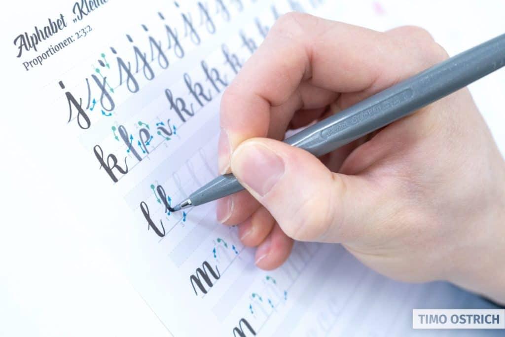 Übungen mit dem Pentel Brush Sign Pen