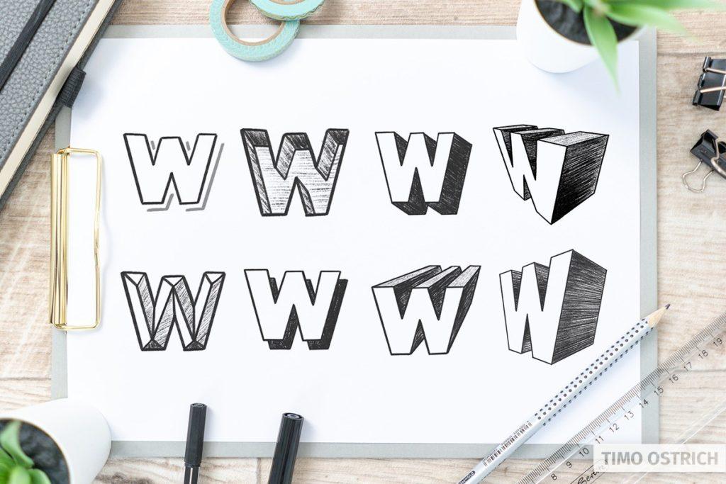 3D Lettering: Alle Techniken auf einen Blick