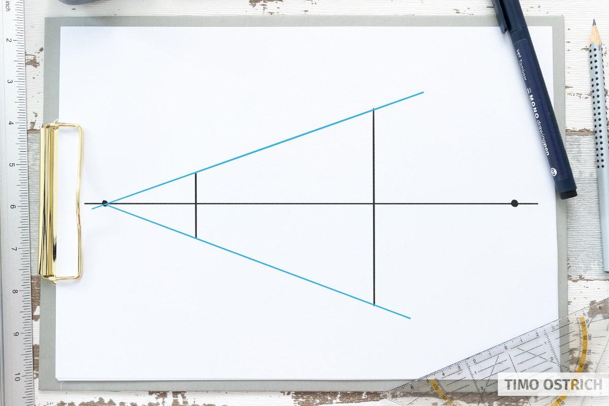 Zweite vertikale Linie